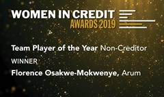 Arum wins at the Women in Credit Awards 2019